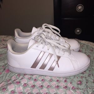 Adidas white and rose Gold